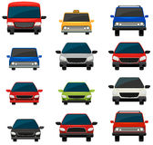 Set of tinted vehicles Royalty Free Stock Image