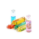 Set of tiny vial bottles Royalty Free Stock Image