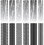 Set of tire prints Royalty Free Stock Images