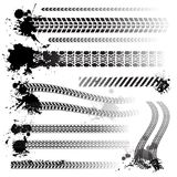 Set of tire tracks stock illustration