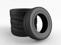 Set of tires Royalty Free Stock Photo