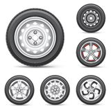 Set of tires Royalty Free Stock Photography