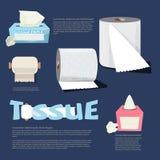 Set of tissue paper. infographic. logotype. typographic - vector Royalty Free Stock Photo