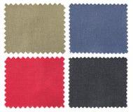 Set tkaniny swatch pobiera próbki teksturę Fotografia Stock