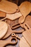 Set tnące deski na drewnianym tle Projekt deski robić stały drewno Obraz Royalty Free