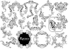 Set to create a vintage frame. Set to create a vintage frame for your design Stock Image