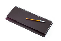 Set to draw up plans. Desktop notepad to record with metal rings Royalty Free Stock Photography