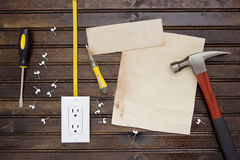 Set to install the electrical outlet Royalty Free Stock Photography