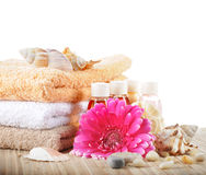Set to a spa on a white background Royalty Free Stock Images