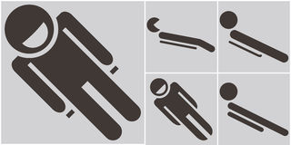 Set toboggan icons Stock Images