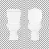Set toilet bowl Stock Photography