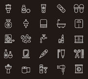 Set of toilet related icons Royalty Free Stock Images