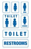 Set of toilet signs Royalty Free Stock Images