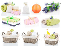 Set of toiletries for relaxation Royalty Free Stock Images