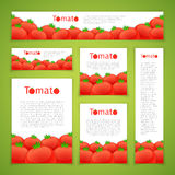 Set of Tomato Banners Stock Image