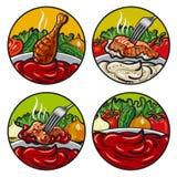 Set of tomato sauces Stock Photo