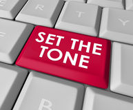 Set the Tone Computer Keyboard Button Message Meaning Royalty Free Stock Images