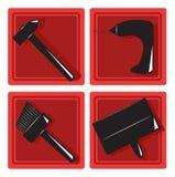 Set of tool icons Stock Photos