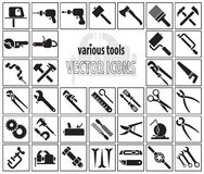 Set of tool icons Stock Photos