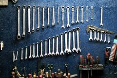 Set of Tool Wrench Stock Photos