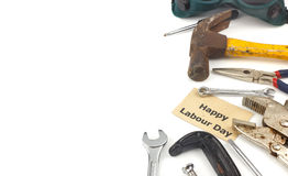 Set of tools as labor day background Royalty Free Stock Photos