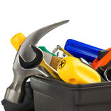 Set of tools in black toolbox Stock Image