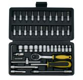 Cardboard box on a white background. Isolateset of tools in a briefcase on a white background. Isolate stock images