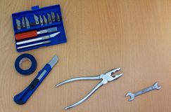 Tool kit for construction and repair royalty free stock images