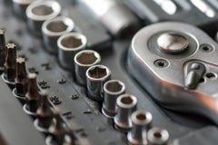 Set of tools for car repair in box Stock Images