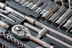Set of tools for car repair in box Stock Image