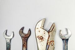 Set of tools closeup isolated royalty free stock image