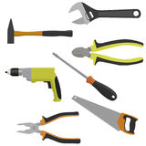 Set of tools for construction and repair. Vector illustration Royalty Free Stock Photography