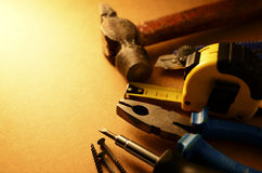 Set of tools with copyspace Stock Photo