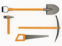 Set of tools, 3D Royalty Free Stock Images