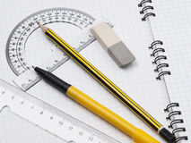 Set of tools for drawing Royalty Free Stock Images