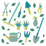 a set of tools for the gardener royalty free illustration