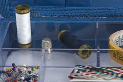 Set of tools for hand sewing Royalty Free Stock Photos