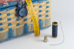 Set of tools for hand sewing Royalty Free Stock Images