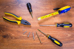 Set of tools for home renovation Royalty Free Stock Photography