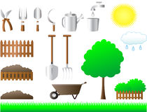 Set of tools for house and garden Royalty Free Stock Photo