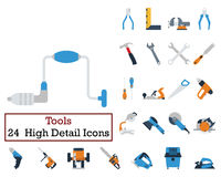 Set of 24 Tools Icons Royalty Free Stock Photography