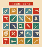 Set of Tools Icons Stock Photo