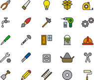 Set of Tools Icons or Symbols Royalty Free Stock Image