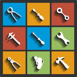 Set of Tools icons. Stock Photography
