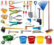 Set of tools stock illustration