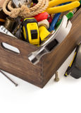 Set of tools and instruments in toolbox Royalty Free Stock Photo