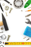 Set of tools and instruments on white Royalty Free Stock Images