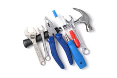 Set of tools isolated over white. Stock Images