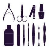 Set of tools for manicure. Royalty Free Stock Image
