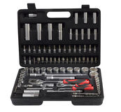 Set of tools for mechanical works Royalty Free Stock Image